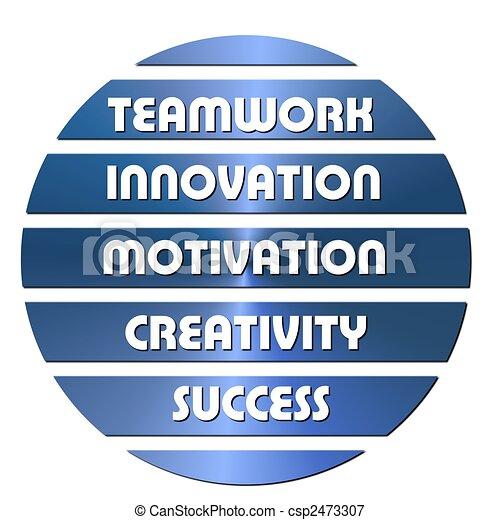 Blue Business motivation slogans - csp2473307