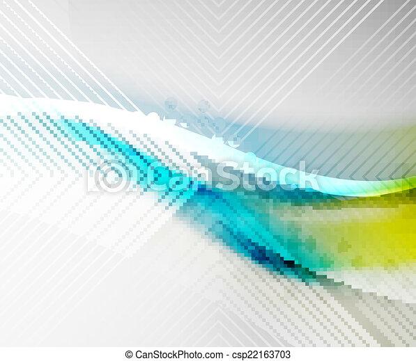 Blue business tech blur design - csp22163703