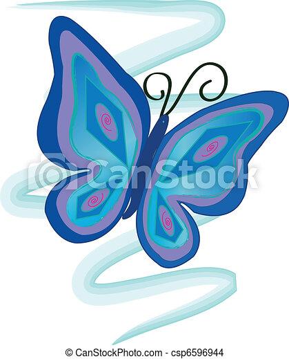 Blue Butterfly - csp6596944