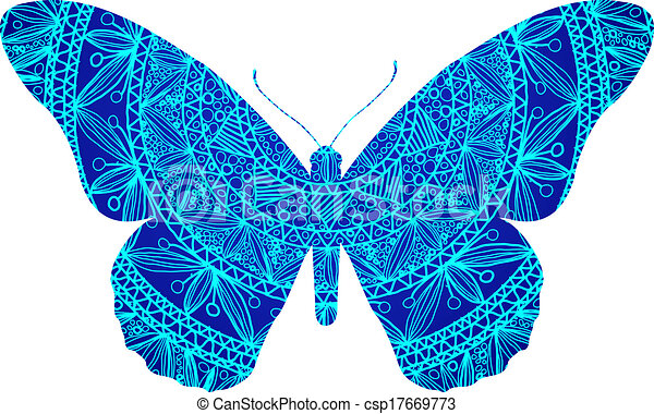 blue butterfly rh canstockphoto com White Vector blue butterfly vector