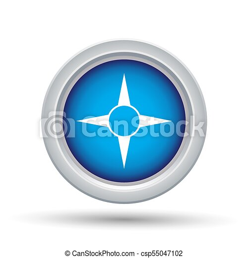 Blue Button Icon - csp55047102