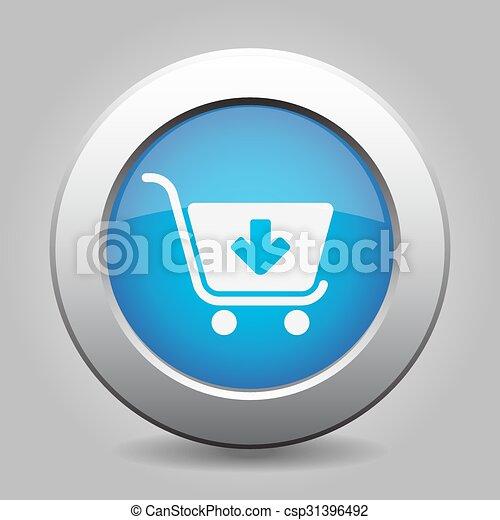 blue button - shopping cart add - csp31396492