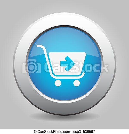 blue button - shopping cart next - csp31536567