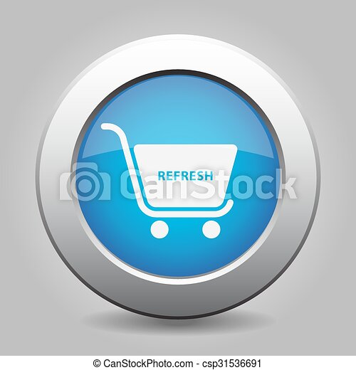 blue button, shopping cart refresh - csp31536691
