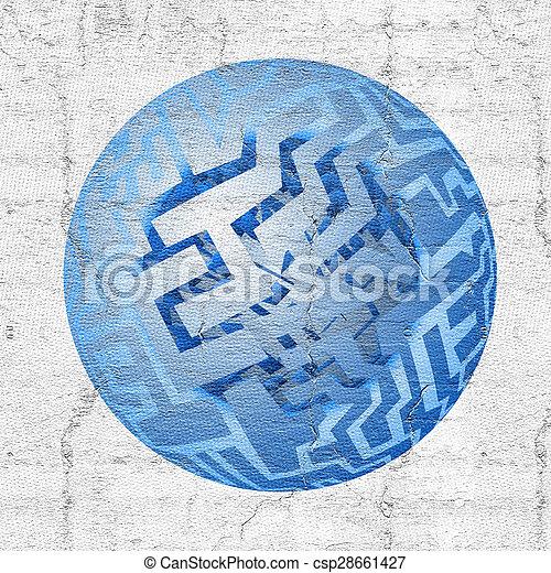 Blue button - csp28661427