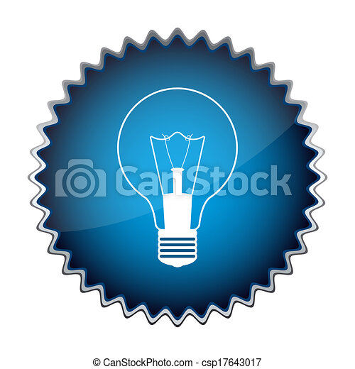 blue button with the light bulb - csp17643017