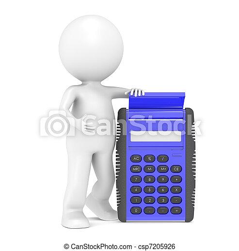Blue Calculator - csp7205926