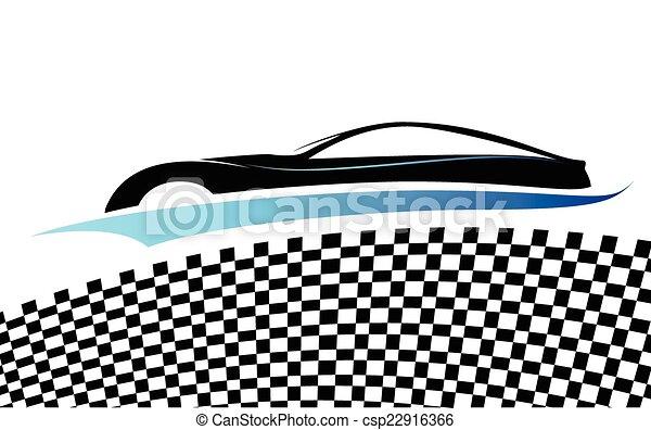 Blue car - csp22916366