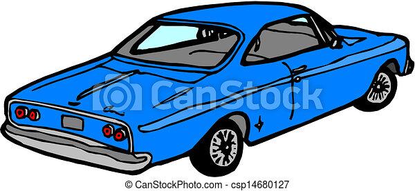 blue car  - csp14680127
