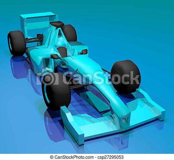 blue car - csp27295053