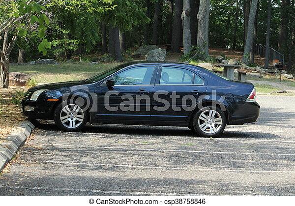 blue car - csp38758846