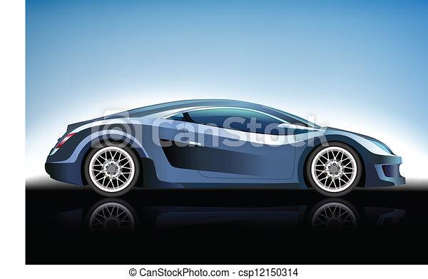 Blue car - csp12150314