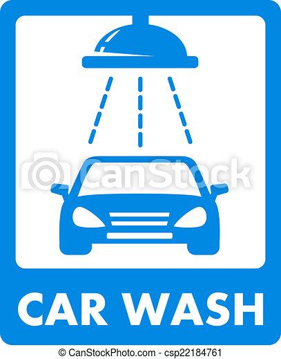 blue car wash icon - csp22184761