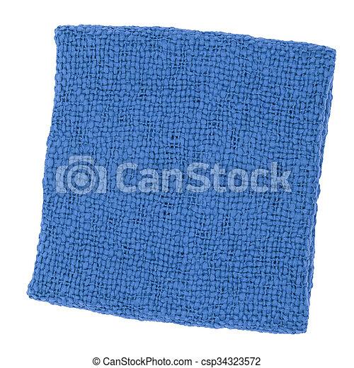blue carpet Isolated on white - csp34323572