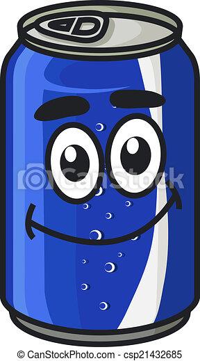 Blue cartoon soda or soft drink can - csp21432685
