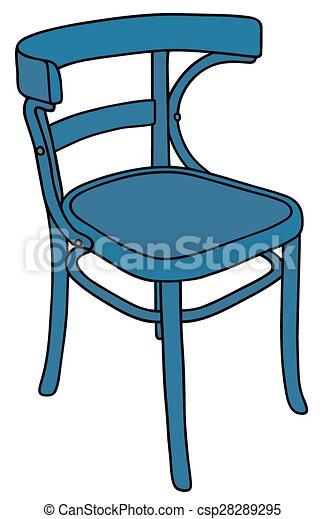 Blue chair - csp28289295