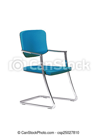 blue chair isolated on white - csp25027810