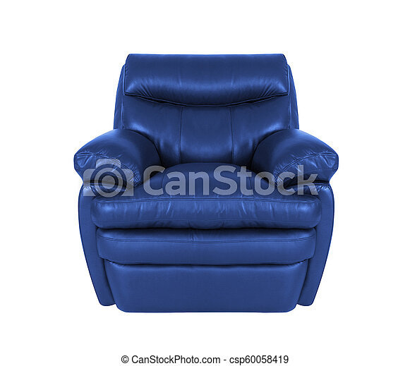 blue chair isolated on white - csp60058419