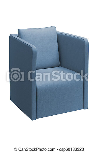 blue chair isolated on white - csp60133328