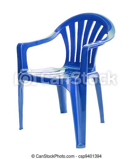 blue chair on white - csp9401394