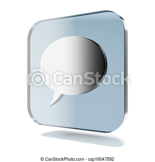 Blue chat icon - csp16047892
