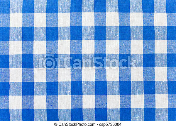 Blue Checked Fabric Tablecloth   Csp5736084