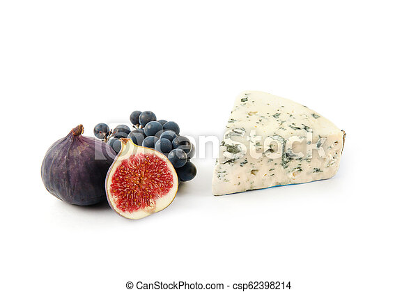 Blue cheese isolated on white - csp62398214