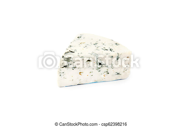 Blue cheese isolated on white - csp62398216