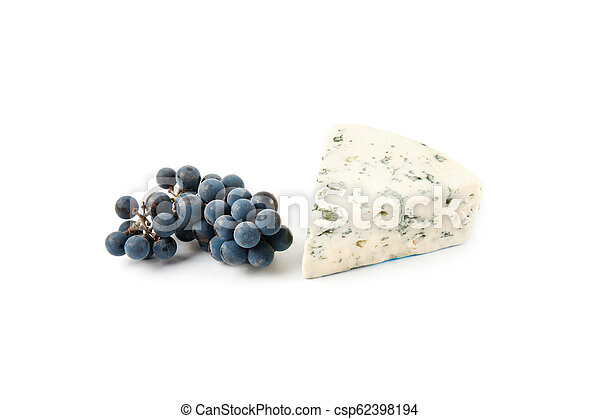 Blue cheese isolated on white - csp62398194