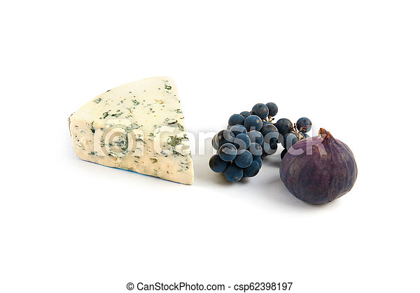 Blue cheese isolated on white - csp62398197