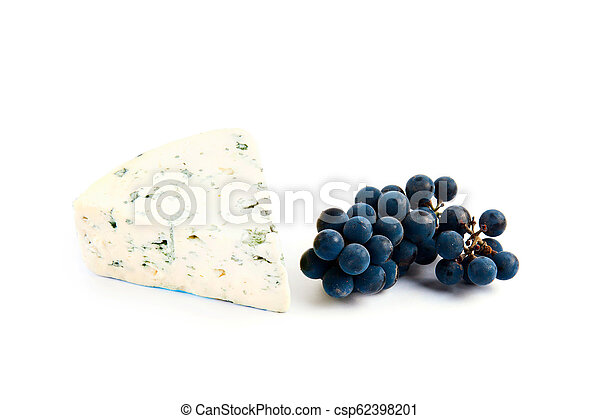 Blue cheese isolated on white - csp62398201