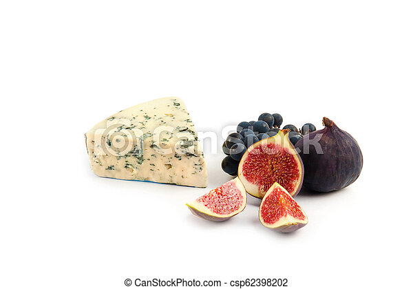 Blue cheese isolated on white - csp62398202