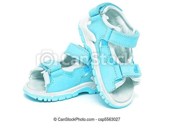 Blue child's sandals - csp5563027