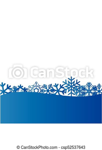 Blue Christmas and New Year background with snowflakes for text. Vector Illustration - csp52537643