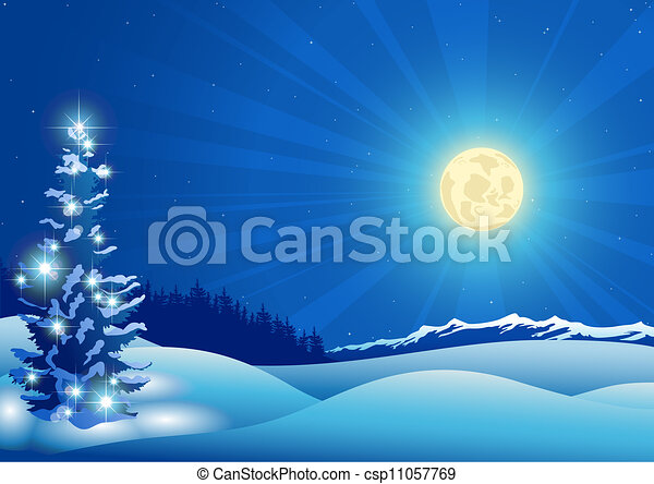 blue christmas background csp11057769 - Blue Christmas Background