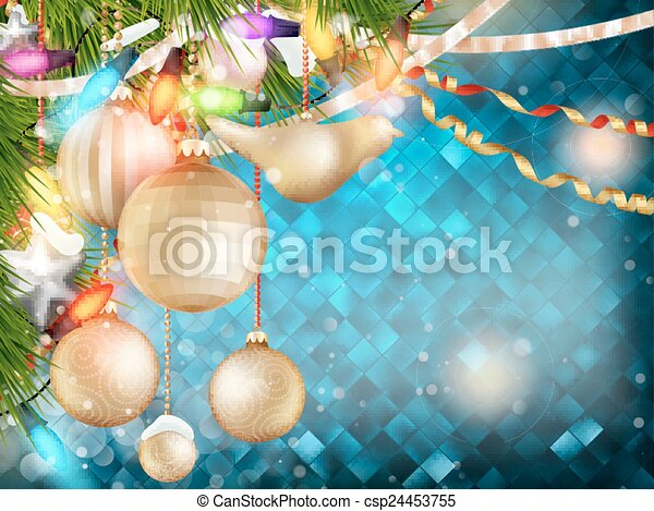 Blue Christmas background. EPS 10 - csp24453755