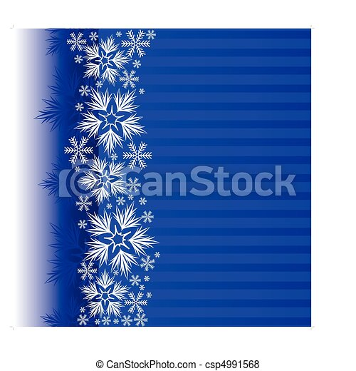Blue Christmas background - csp4991568