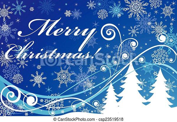 Blue christmas background - csp23519518