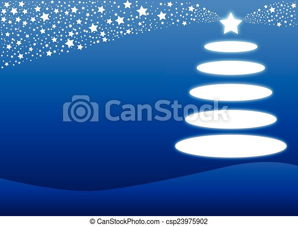 Blue Christmas Background - csp23975902
