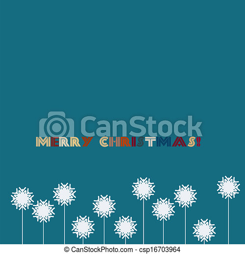 Blue christmas background with snowflakes - csp16703964