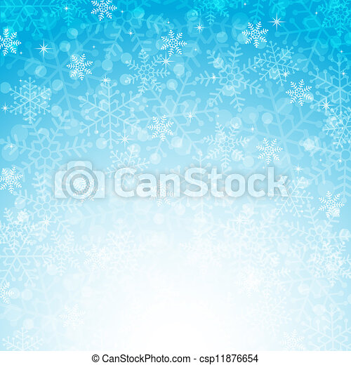 Blue Christmas background with snowflakes - csp11876654