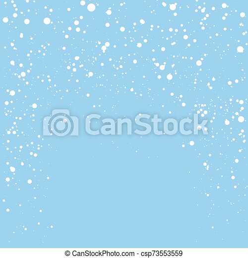 Blue Christmas Background with Snowflakes - csp73553559