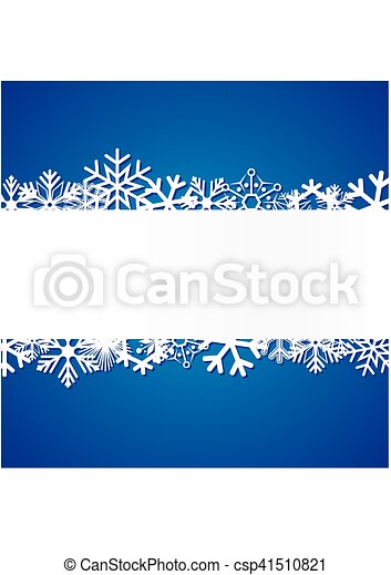 Blue Christmas background with snowflakes - csp41510821