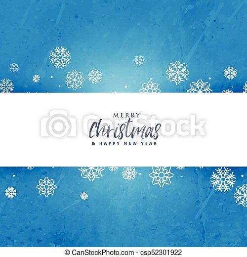 blue christmas background with snowflakes - csp52301922