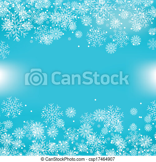 Blue Christmas Background With Snowflakes - csp17464907