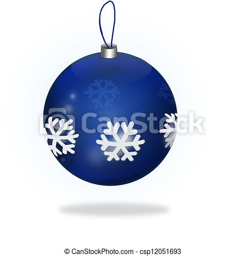 Blue Christmas Ball - csp12051693