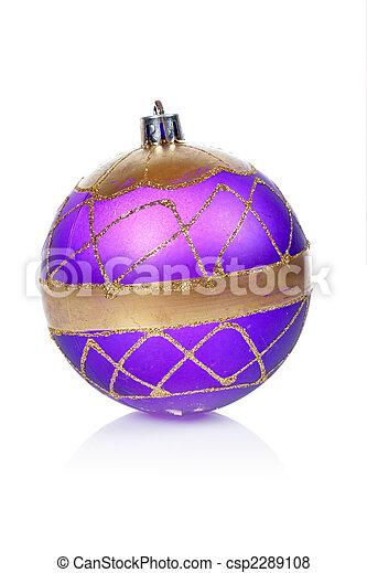 Blue Christmas ball - csp2289108