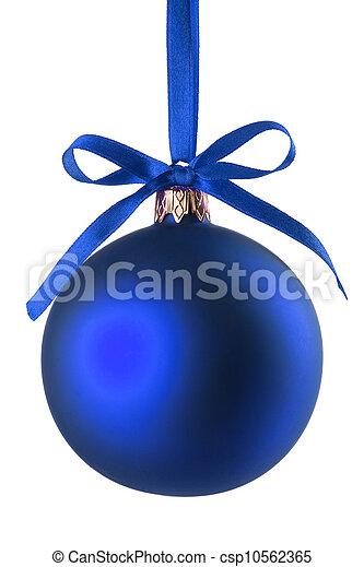 Blue Christmas ball - csp10562365