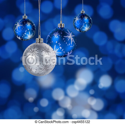 blue christmas balls csp4455122 - Light Blue Christmas Ornaments
