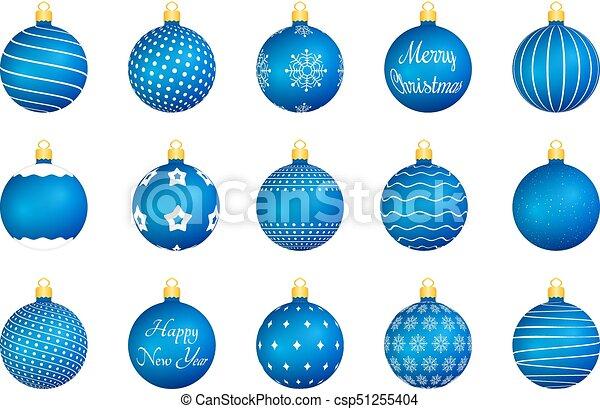 blue christmas balls csp51255404 - Blue Christmas Balls